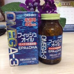 Viên uống dầu cá Om ega 3 Orihiro Nhật Bản hộp 180 viên