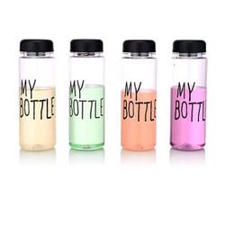 20 chai My Bottle thủy tinh 500ML nắp chữ nhiều màu