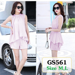 Set đồ bộ áo form rộng và quần đùi GS561