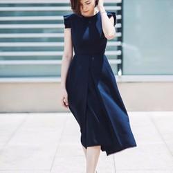 Đầm xòe hở lưng cực đẹp xanh coban