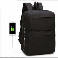 [khuyến mãi ] Balo công sở tích hợp usb tặng thêm dây sạc USB