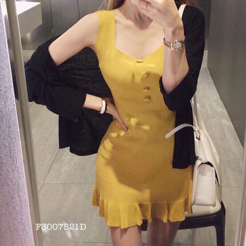 Đầm body len bèo nút hàng nhập - MS: S190701 Gs 125k 5