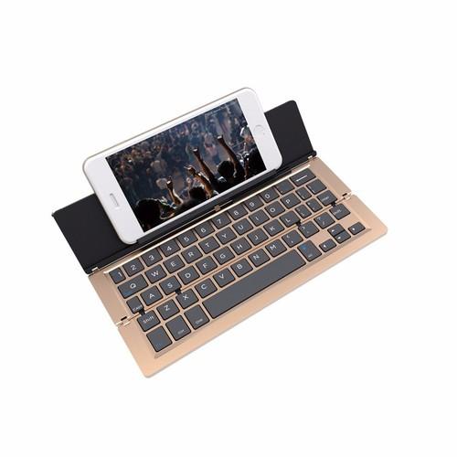 Bàn phím Bluetooth kiêm giá đỡ cho Ipad, máy tính bảng sang trọng PF40