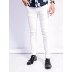 Quần jean nam màu trắng trẻ trung