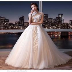 Váy cưới xoè croptop cao cấp, kiểu dáng nổi bật