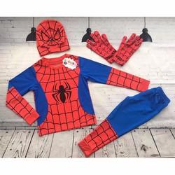 Bộ quần áo siêu nhân người nhện dài kèm bao tay