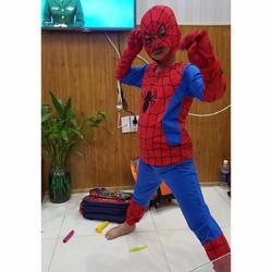 bộ quấn áo siêu nhân người  nhện dài kèm bao tay