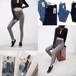 Quần Jeans Dài Co Dãn Đủ Màu