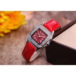 đồng hồ thời trang dây da măt vuông