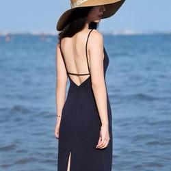 Đầm suông đi biển hở lưng cực đẹp