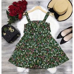 Đầm xoè hoa tầng _MÕ CHU SHOP