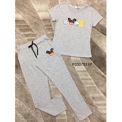 Set bộ thun chữ Love Mickey quần dài ! MS: S030732 GS: 115K