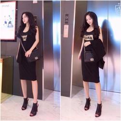 Set váy maxi + khoác vest