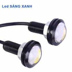 Bộ 2 đèn xi nhan nút áo lớn cho xe máy - Sáng Xanh
