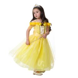 Đầm công chúa Belle Người đẹp và Quái Vật kèm vương miện và gậy phép