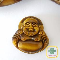 Dây Chuyền Mặt Phật Di Lạc đá mắt hổ - Trung