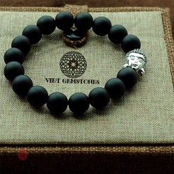 Vòng Tay Đá Obsidian Mix Charm Phật