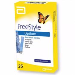 Que thử đường huyết Free Style Optium 25 s