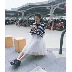 Chân váy công chúa lưới xòe