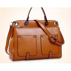 Túi xách nữ cổ điển 2 túi đắp 2081 I Túi xách - ví - balo kacana