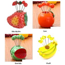 [HCM, hàng đẹp] Nĩa ghim trái cây kiểu dáng mới lạ