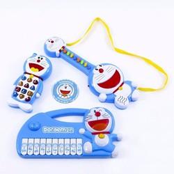 Bộ đồ chơi đàn Ghita đàn Organ điện thoại Doremon
