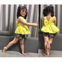 Bộ quần hoa áo màu bé gái cực xinh