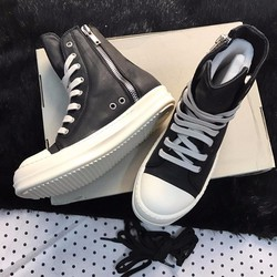 Giày DRKSHDW Rick Owens Black Canvas High Top Sneaker