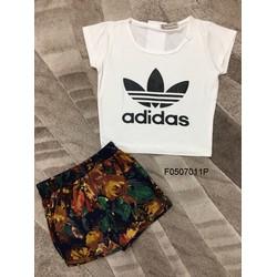 Set áo thun quần short hoạ tiết hàng thiết kế! -MS: S050705 GS: 110k