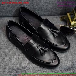 Giày da nam công sở thắt nơ phong cách lịch lãm GDNHK180