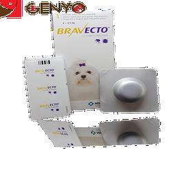 Thuốc phòng trị ghẻ ve bọ chét và viêm da trên chó BRAVECTO 2-4kg