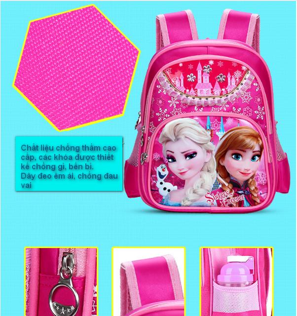 Balô đi học FROZEN công chứa Elsa đáng yêu cho bé gái QSTORE QS62 8