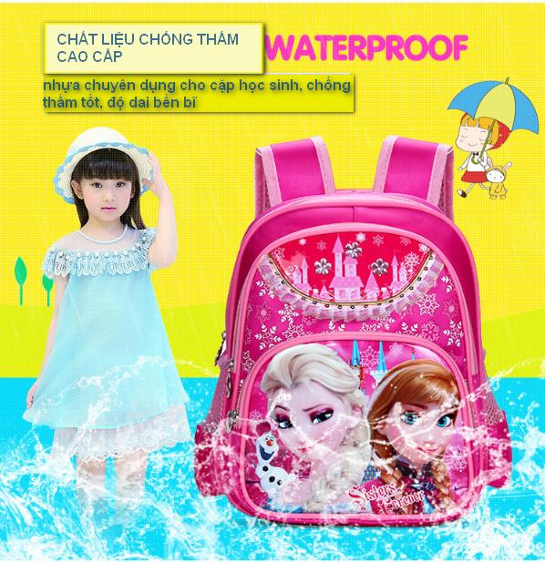 Balô đi học FROZEN công chứa Elsa đáng yêu cho bé gái QSTORE QS62 7