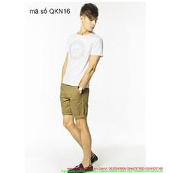 Quần short kaki nam phong cách trẻ trung sành điệu QKN16