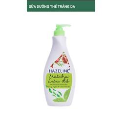 Sữa dưỡng thể trắng da Hazeline Matcha - Lựu Đỏ