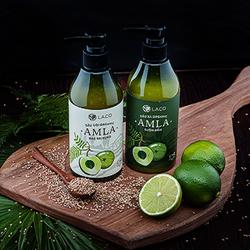 Bộ Dầu gội xả organic Amla Laco chống rụng kích thích mọc tóc
