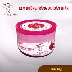 Kem dưỡng trắng da toàn thân Linh chi đỏ và Collagen SAN NORA 120g
