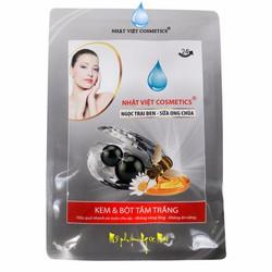 Kem và Bột tắm trắng Ngọc Trai Đen - Sữa Ong Chúa Nhật Việt Cosmetics