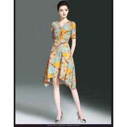 Đầm Vintage Hoạ Tiết