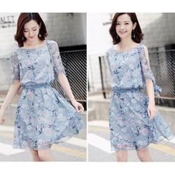 Đầm voan xòe thời trang