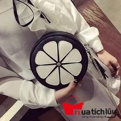 MTL - Túi đeo chéo hộp tròn dây xích