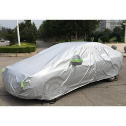 Tấm trùm xe hơi phủ nhôm bạc 4 chỗ, chống nóng xước sơn có móc khóa