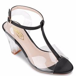 Giày cao gót hở mũi JANVID sang trọng, quý phái, trẻ trung