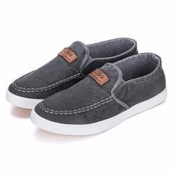 Giày Vải Jean Cá Tính - Xám