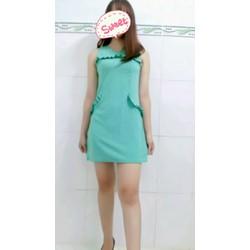 Đầm suông xanh lá