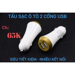 Tẩu Sạc Xe OTO 2 Cổng USB Chính Hãng