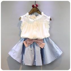 Sét bộ quần áo váy rời bé gái 2- 6 tuổi