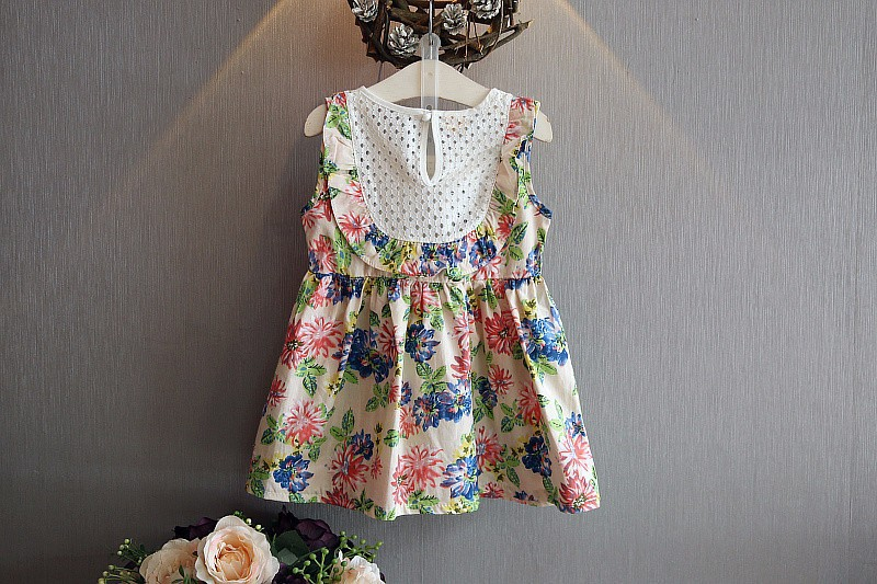 Váy Đầm hoa bé gái 2- 3 tuổi 6
