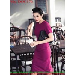 Đầm body công sở thiết kế đơn giản xinh đẹp DOC176