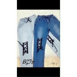 jeans lưới gối
